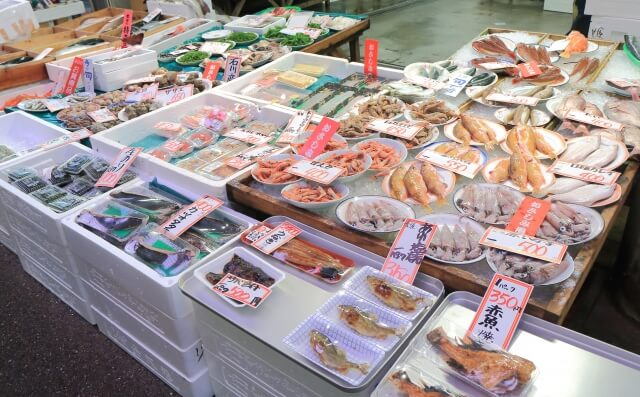 近江町市場の海鮮