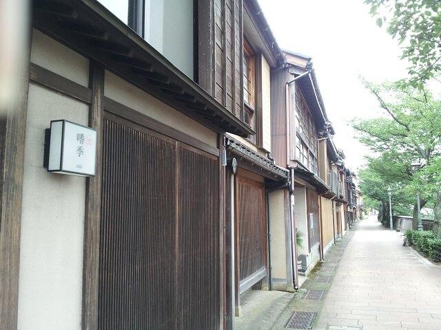 金沢の茶屋街の風景