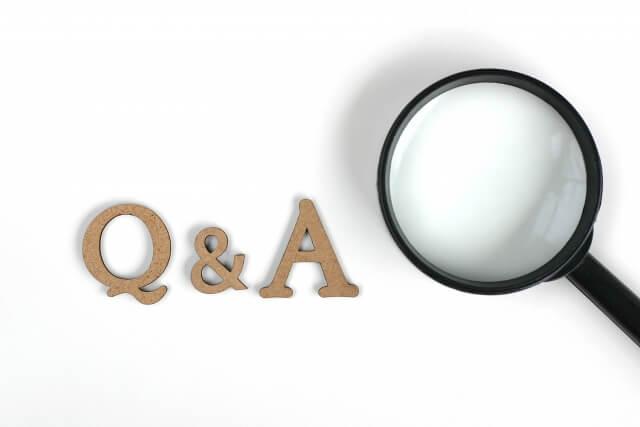 Q&Aという文字とルーペ