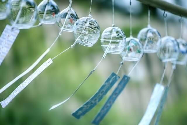 夏に飾られている風鈴