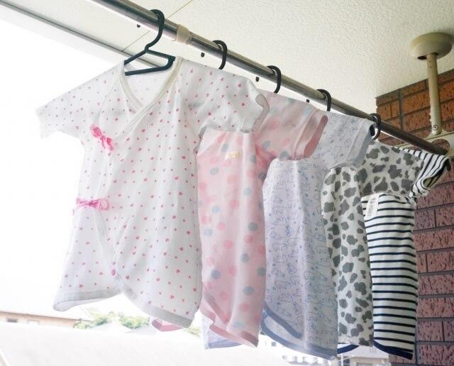 赤ちゃんの肌着の洗濯物