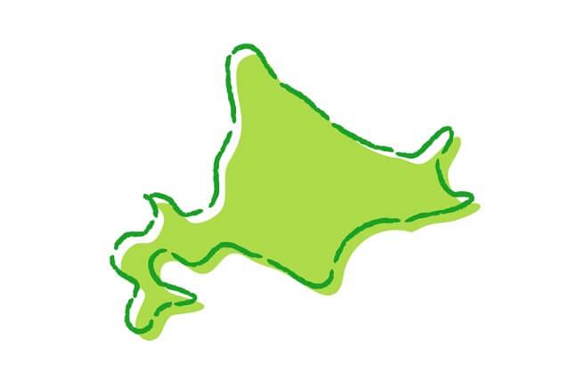 北海道の形のイラスト