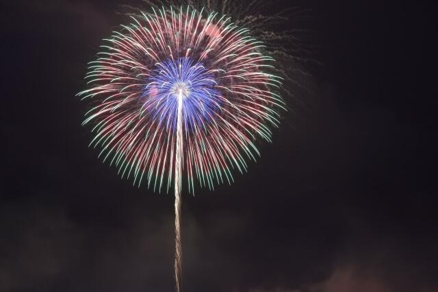 宮島花火大会の打ち上げ花火