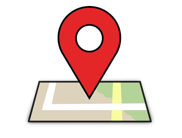 地図のマークのイラスト