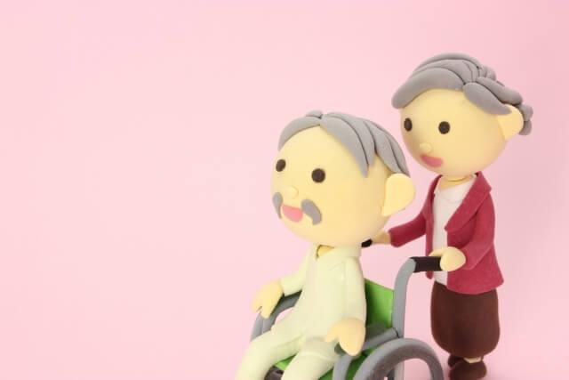 車椅子に乗ったおじいちゃんのクレーアート