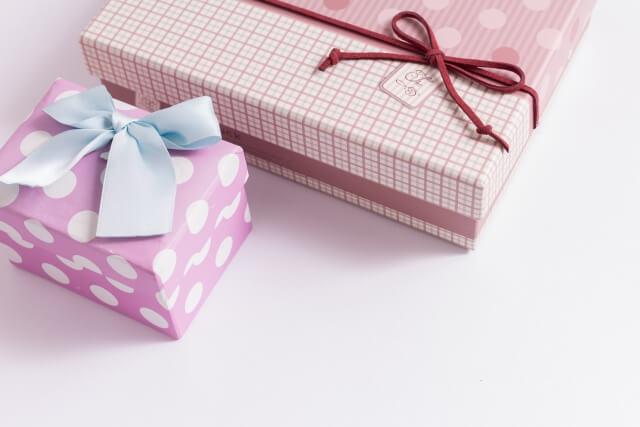 プレゼントのギフトボックス
